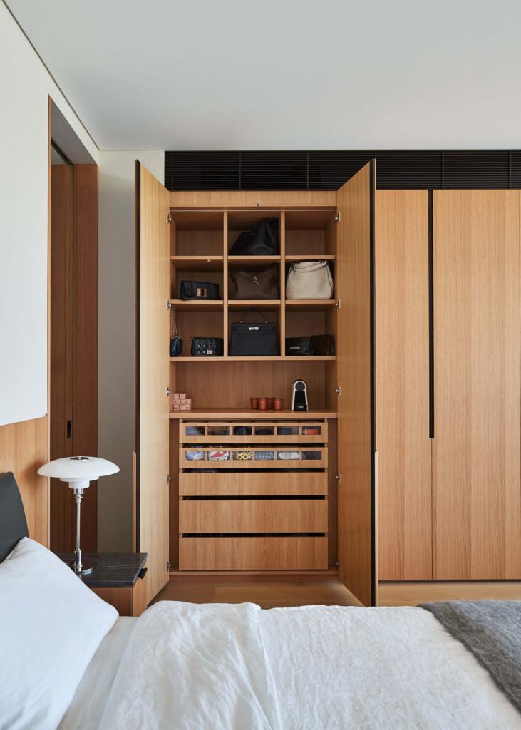 bedroom build in cupboards