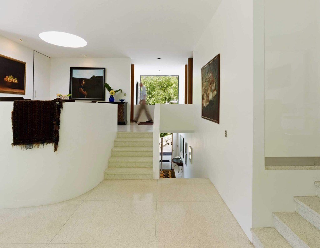 Clean lines and open spaces in living area