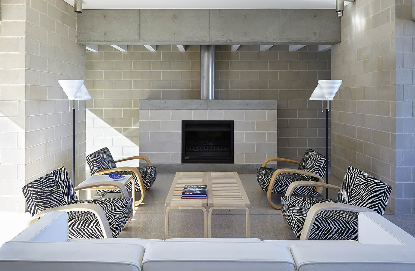 Porebski Architects | Gas Indoor Fireplace Design