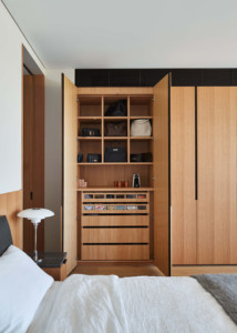 bedroom build in cupboards