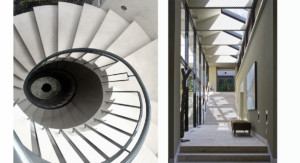 Spiral and sloping staircases